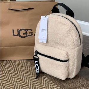 NWT UGG Dannie Mini Faux Fur Backpack